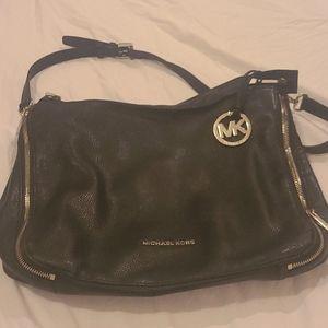 Michael Kors Black Soft Leather Handbag